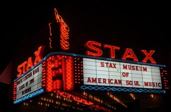 Stax Museum of American Soul Music sign. Photo Credit: Dan Ball